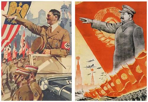 Hitler i Staljin poster