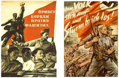 Sovjetski i nacistički poster